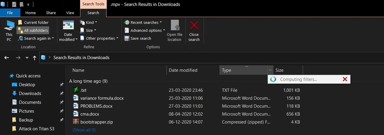 File Explorer bug
