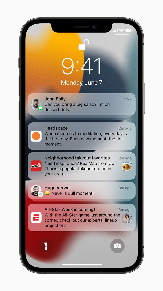 Apple iPhone12Pro iOS15 Notifications lockscreen 060721 inline jpg large