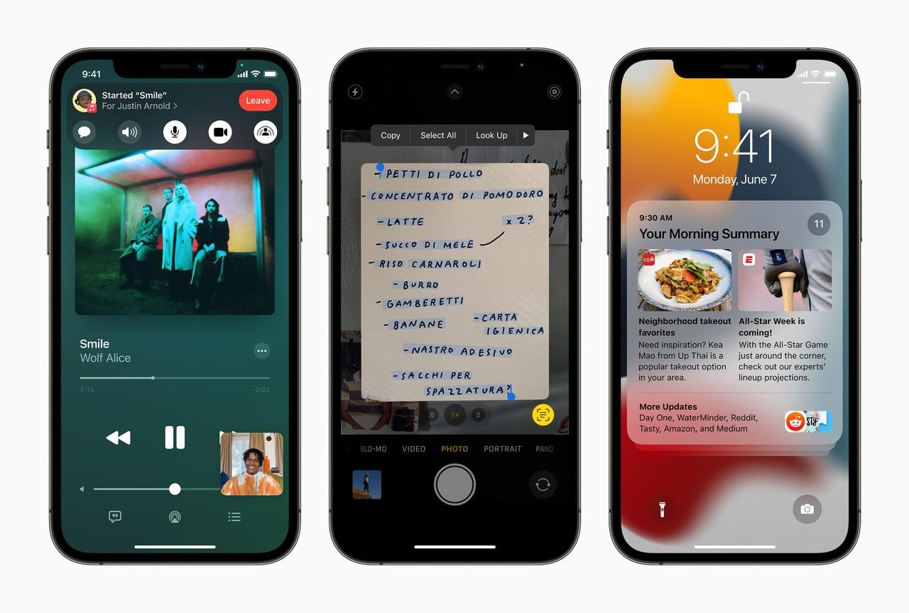 Apple iPhone12Pro iOS15 3up 060721