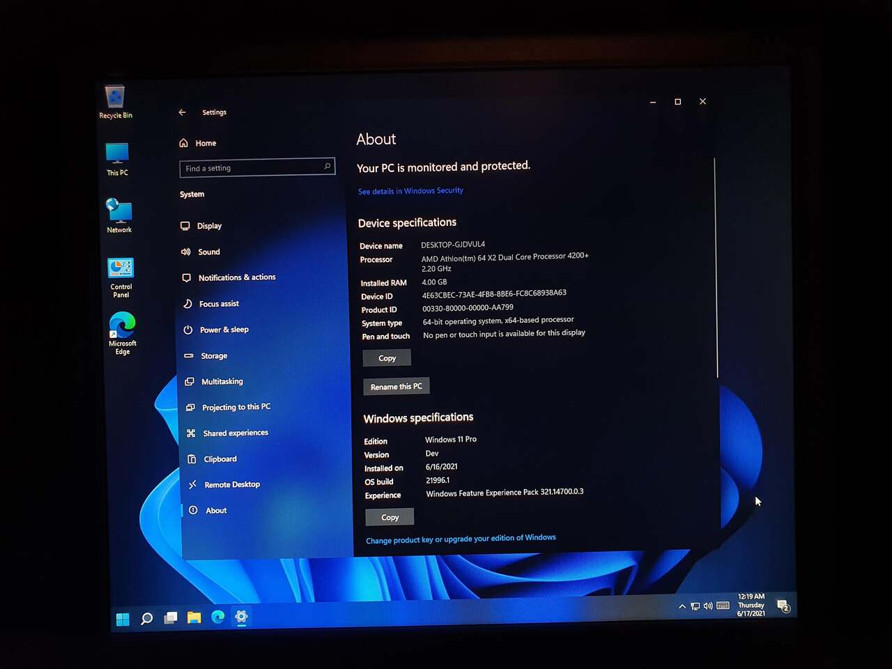 Windows 11 running like a charm on old hardware 533256 2