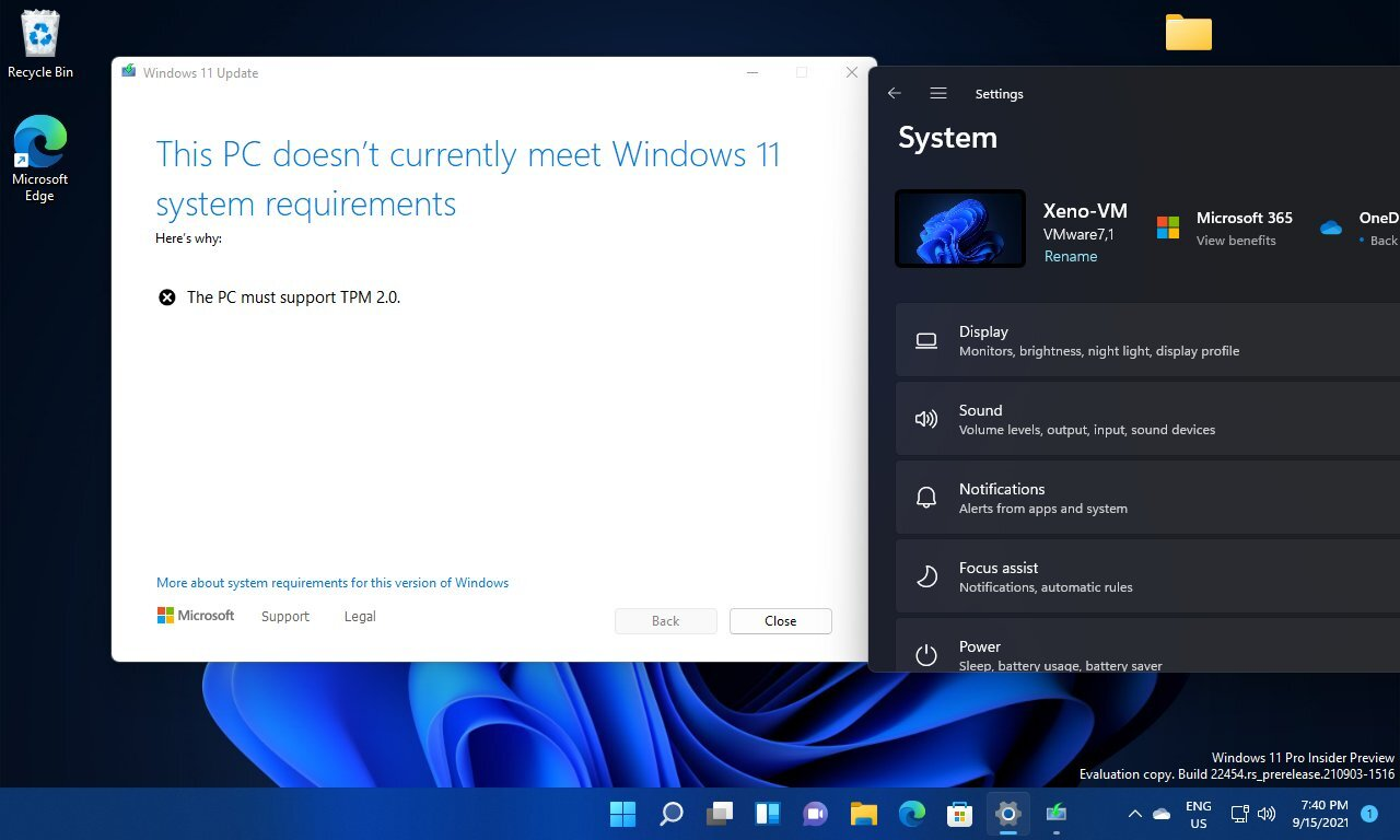 No tmp windows 11 virtual machine