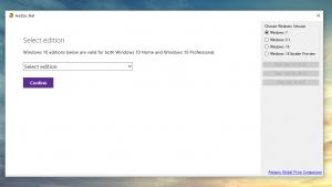 Windows ISO Downloader - Windows 7/8.1/10の公式ISOファイルをさくさくダウンロードすることができるフリーソフト